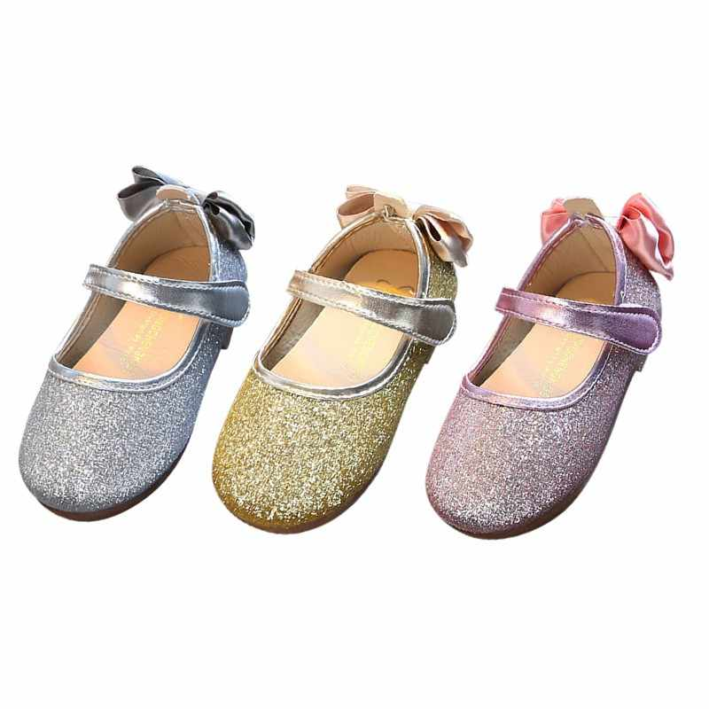 2018 3 Colors Summer New Fashion Girls Princess Shoes Baby Dance Shoes  Children Bow Soft Bottom 6e8e0a3a3f97