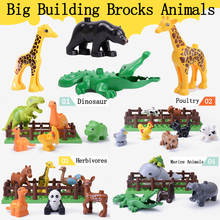 цены на Big Building Blocks Animals Series Model Figures Toys For Kids Children Toys Gift Educational Compatible With Leogoed Duploed  в интернет-магазинах