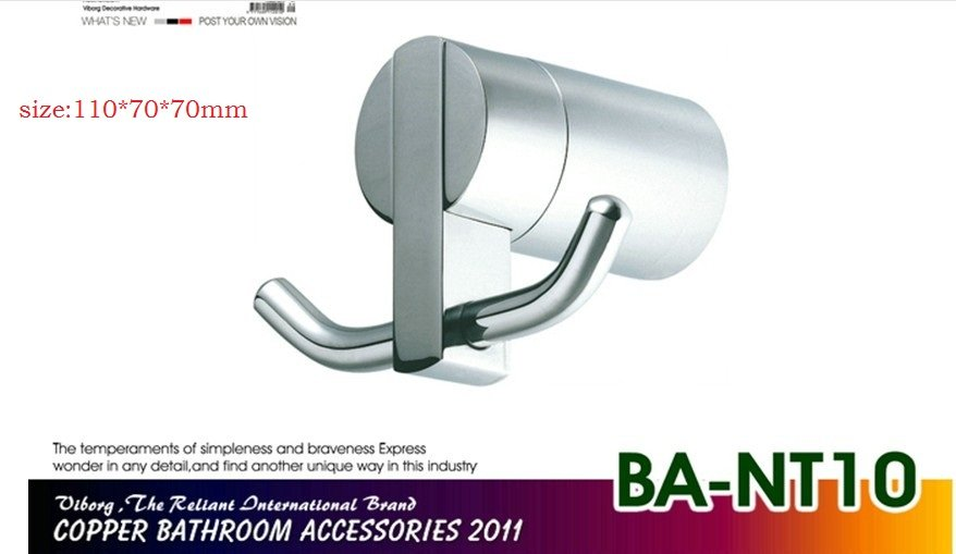 Гарантия качества меди ванная комната аппаратных кулон двойные крючки, полотенце rack47* 70*60 мм
