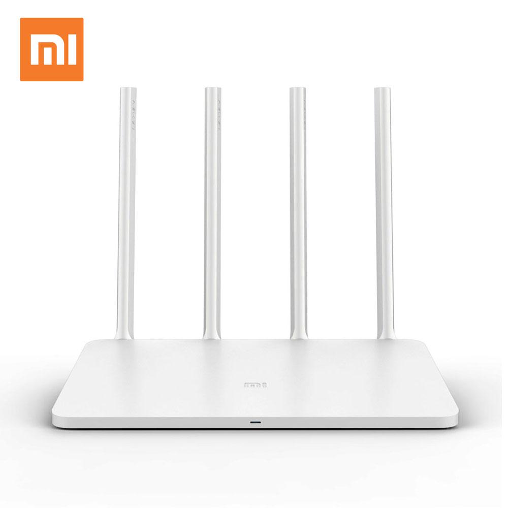 Prix pour Xiaomi wifi routeur 3 anglais version wifi répéteur 1167 mbps 2.4g 5 ghz rom 128 mb wi-fi roteador sans fil routeurs app contrôle