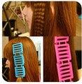 3 pacote/lote Magia Encrespadores de Cabelo Rolos de Plástico Cabeça de Aperto Cling Hair Styling Tools Rolo Curler Cabeleireiro Ferramentas de Maquiagem Cuidados