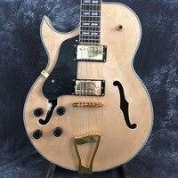 Top Guitar Instrument TOP TOP Maple Leaf Tiger Jazz L5 L 5 Electric Guitar Left Hand