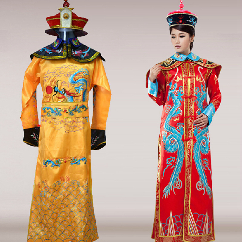 The qing dynasty emperor queen historical costume clothing of films and the emperor himself ancient costumes for women men сумка emperor mk20380 2014