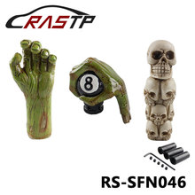 Halloween style Green Devil hand  Gear Shift  Knob white Skull Head Shift knob Lever Stick Knob RS3-SFN046 personalized hat skull shape resin gear shift knob silver grey