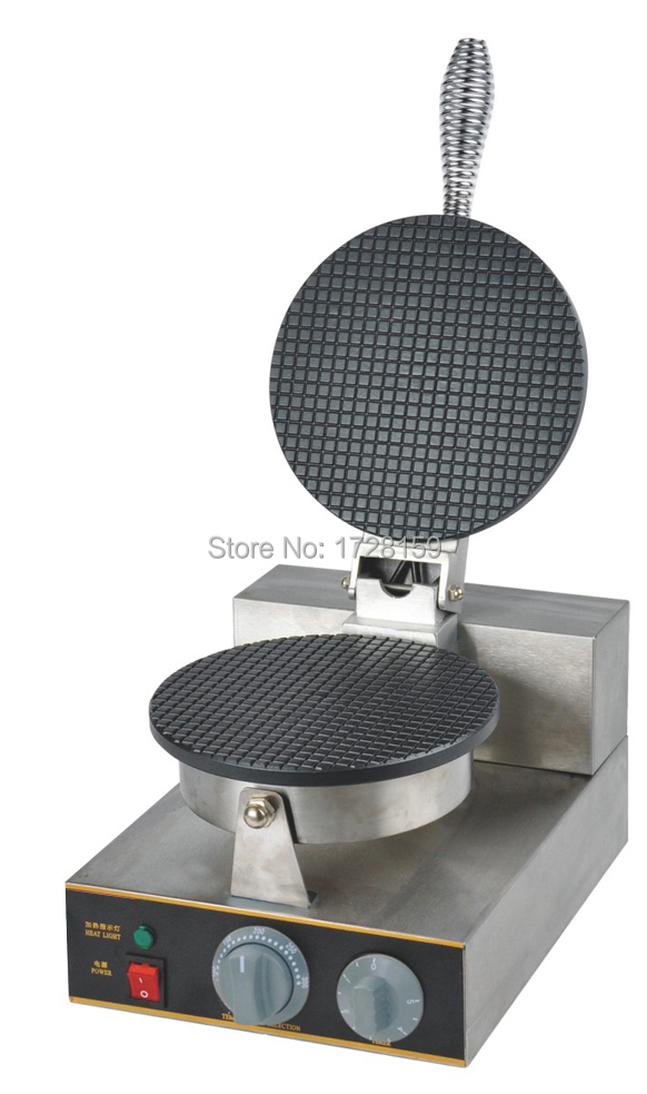 110V 220V Electric ice cream waffle cone maker, ice cream cone making machine, commercial ice cream cone machine for sale free shiping fried ice cream machine 75 35cm big pan with 5 buckets fried ice machine r22 ice pan machine ice cream machine