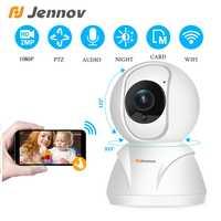 Jennov 1080P HD Baby Monitor IP Macchina Fotografica Senza Fili di Sicurezza Domestica Mini Rete Wifi PTZ Audio della Macchina Fotografica di Sorveglianza di Versione di Notte cam