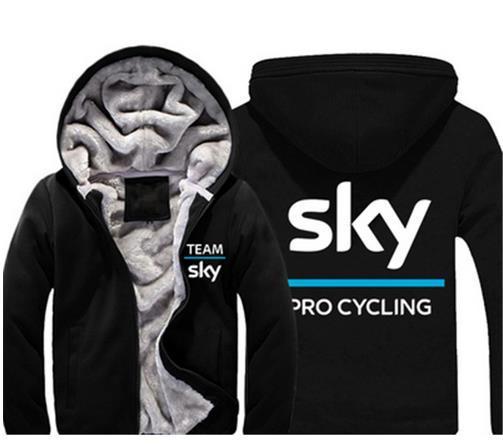 sudaderas de Sky Tour Pro Equipo Francia Cycle Hoodies chaqueta n4HawngT6