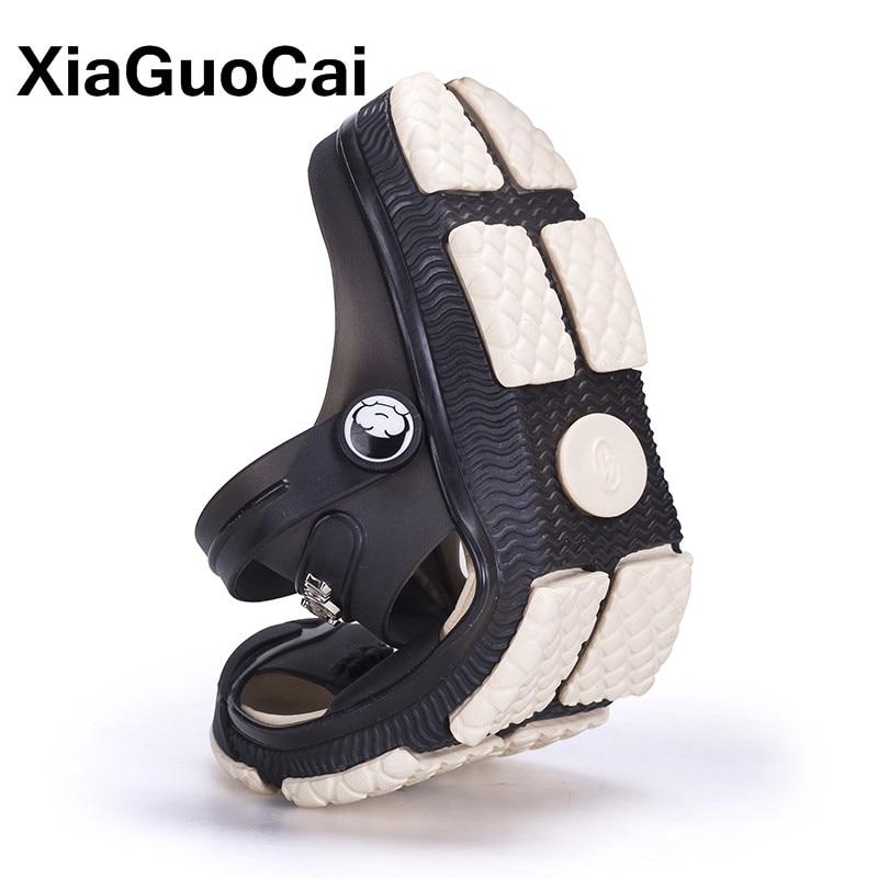 XiaGuoCai 2018 Yaz Erkek Terlik,, Nefes Erkek Sandalet Bahçe - Erkek Ayakkabıları - Fotoğraf 5