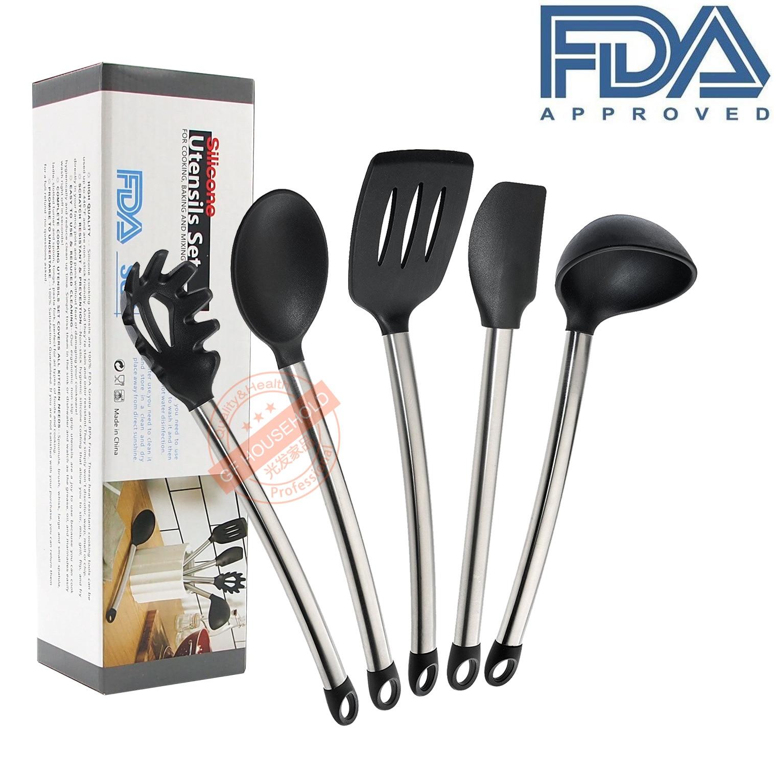 Acero inoxidable y silicona cocina Utensilios utensilio de cocina ...
