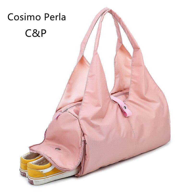 ①  Розовый Duffel Черный Oxofrd Дорожные Сумки Женщины Водонепроницаемый Короткие Путешествия Дорожные  ✔