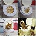 Hot Sale 2016 New Pet Fornecimentos Gato Tapete de Plástico fácil aprender Kit de Treinamento Do Toalete Do Gato para o Treinamento do animal de Estimação e Comportamento Aids gota