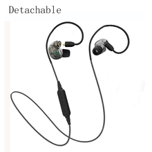 NEW Detachable Bluetooth Earphone Headphone Sport Wireless & Wired Headphone Stereo Noise Reduction Super Bass Headset For phone