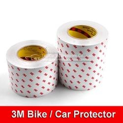 15 cm szerokość o wysokiej wytrzymałości Anti Scratch 3 M Rhino naklejki skóry Vinyl wyczyść przezroczystość grubość rower folia ochronna w Naklejki samochodowe od Samochody i motocykle na