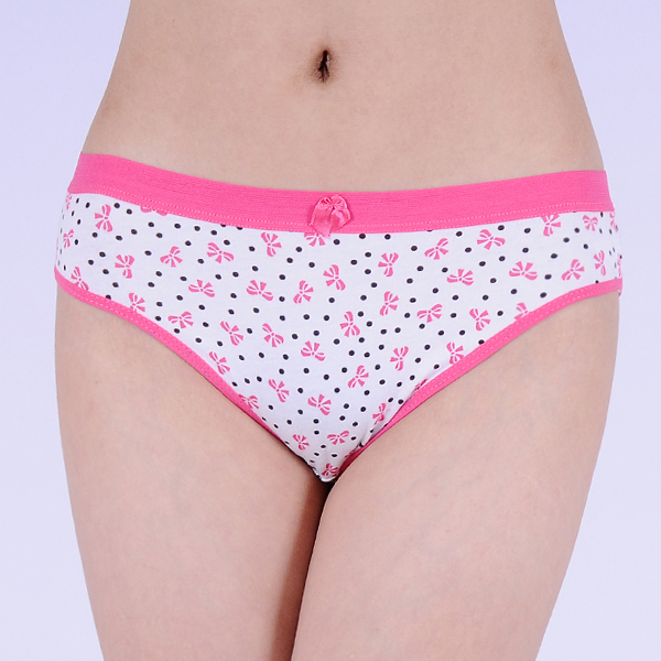 Promotion Printed cotton bikini brief sexy women underwear underpants  stretch lady panties hot lingerie intimate undergarment 2e239ff68d