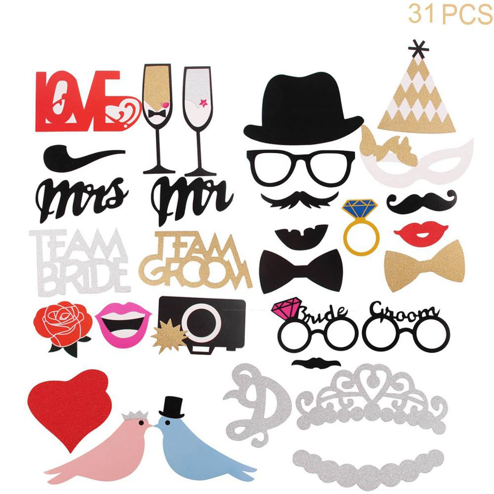 Wedding Photo Props Accessories Photobooth Mariage Baby Shower Photo Props Party Mustache Supplies Birthday Party Decoration Kid