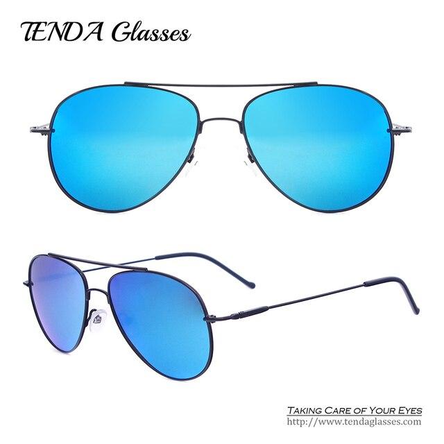 Metal Aviator Men Pilot Sun Glasses Polarized Sunglasses with Revo Coating UV400