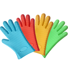 Good New Fashion Oven Pot Mitt Heat Resistant Silicone Gloves Cooking Baking Kitchen Accessories