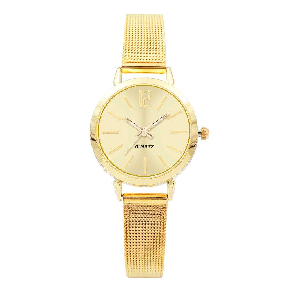 Womens Fashion Classic Quartz Stainless Steel Mesh Belt Wrist Watch Relogio Masculino 2018 Hot Sale Bracelet Watches Clock