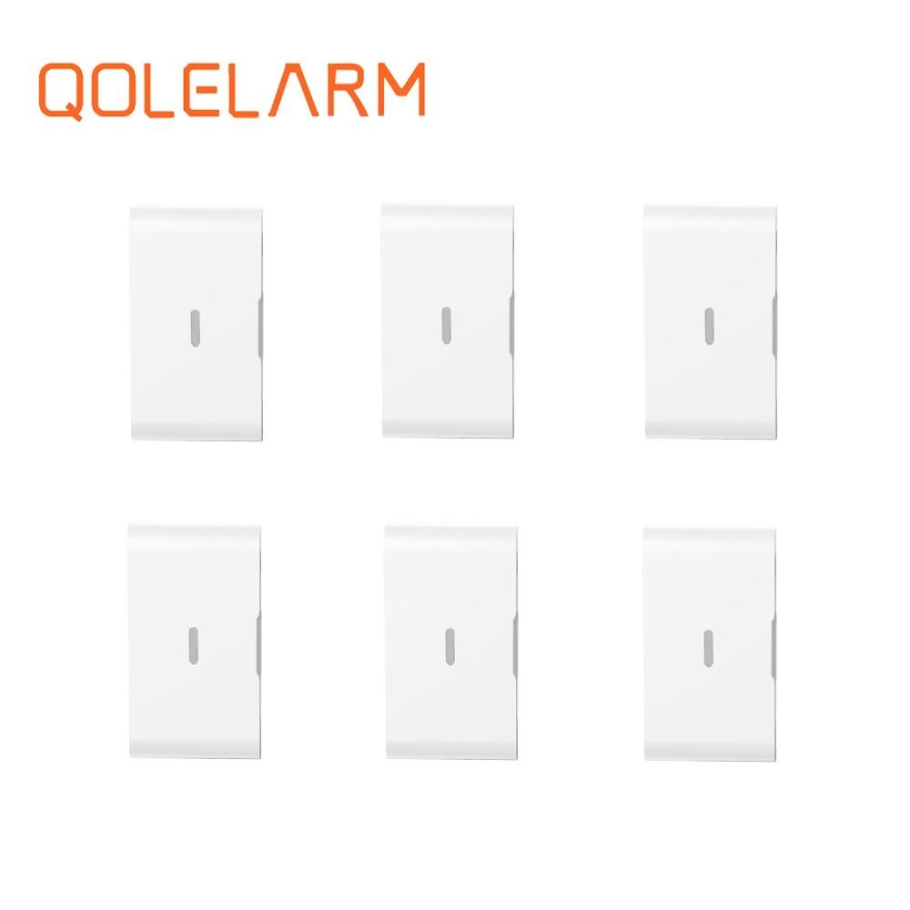 6pcs 433 MHz Wireless vibration sensor glass break sensor with baterry for GSM WiFi security home alarm system wireless vibration break breakage glass sensor detector 433mhz for alarm system
