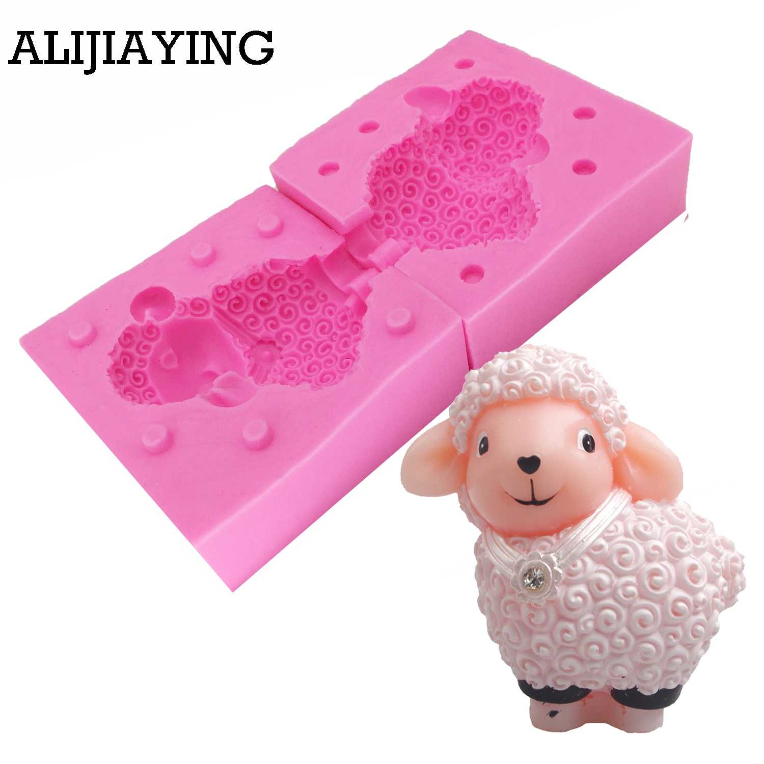3D Sheep Silicone Fondant Cake Mold Soap Chocolate Candy Mould DIY Decor