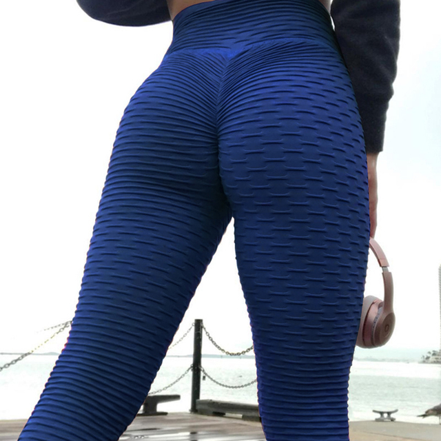 High Waist Fitness Leggings Women Workout Push Up Legging Fashion Solid Color Bodybuilding Jeggings Women Pants 5