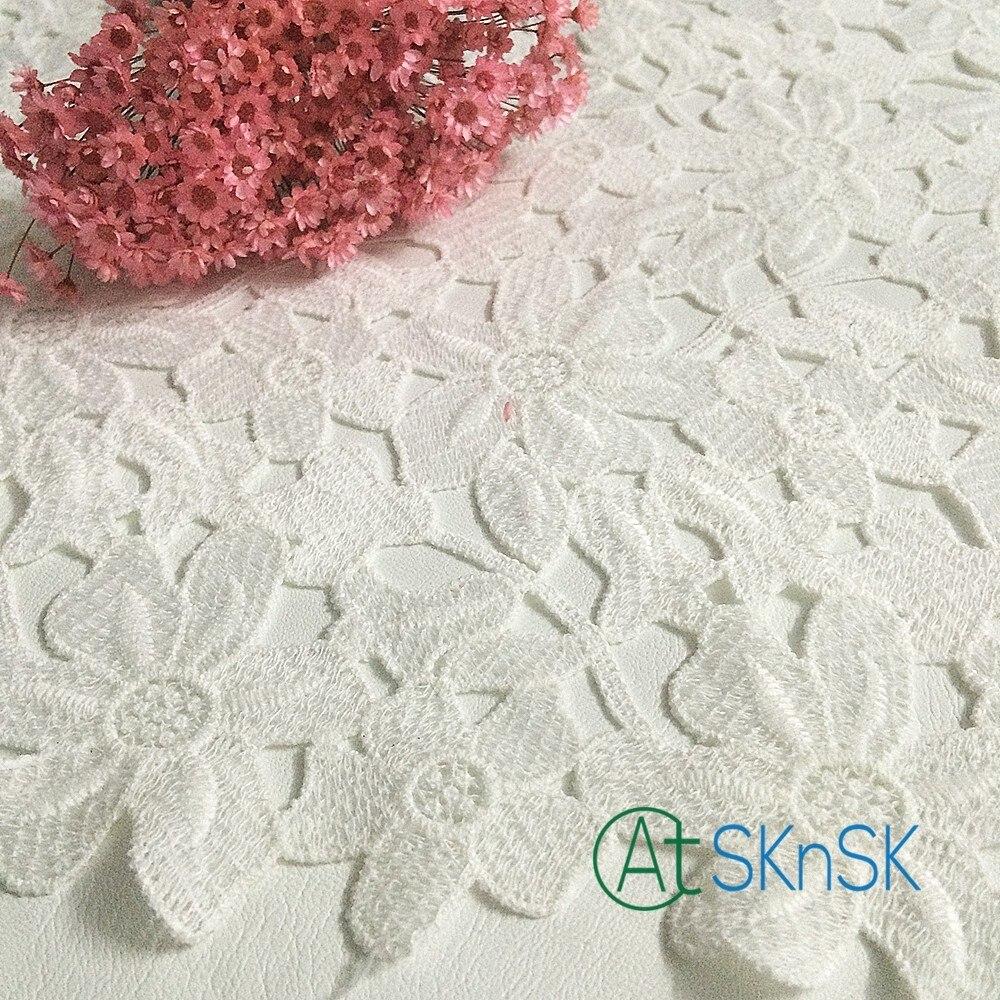 ②2 yarda/Lot ropa Costura Telas 33 ancho DIY TRIM algodón crocheted ...