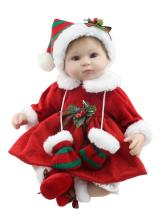 Merry Christmas Gift 17inch About 42cm Real Baby Dolls For Sale With Christmas Style Clothes Hot Welocme Bebe Meninas Brinquedos