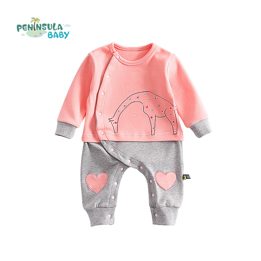 NEW Baby Romper 2017 Autumn Spring Long Sleeve Jumpsuit Newborn Infant Clothing Cotton Cartoon Animal Kids Outfit Costume Wear cartoon rabbit bear baby romper children clothes spring toddler jumpsuit newborn infant clothing wear roupas de bebes