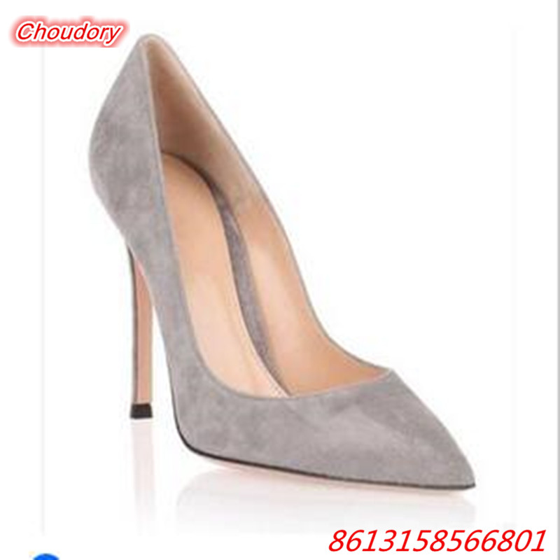 Thin High Heels Shallow font b Women b font Pumps 0ffice Ladies Sexy Pointed Toe Sandals