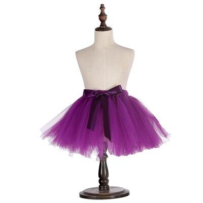 Милые пышные мягкие фатиновые юбки-пачки для малышей; юбка-американка для дня рождения для новорожденных; юбки-пачки для девочек; детские юбки-пачки; одежда для малышей - Цвет: Фиолетовый