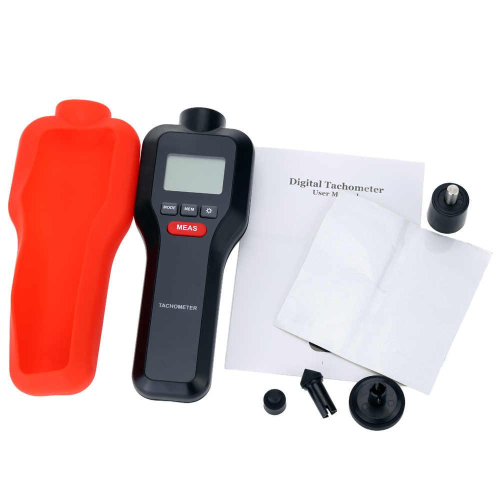 2 w 1 cyfrowy tachometr laserowy Tach RPM Tester silnik maszyna elektryczna obróć prędkościomierz z szerokim zakresem pomiarowym 2-99999RPM