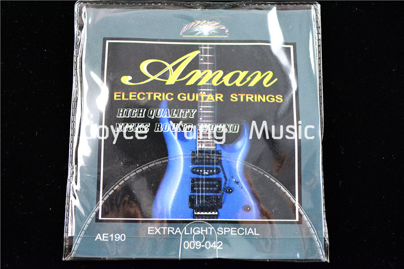 1 Set Of Aman AE190/200 Electric Guitar Strings 1st-6th Strings 009-042(010-046) Extra Light Special Strings Free Shipping