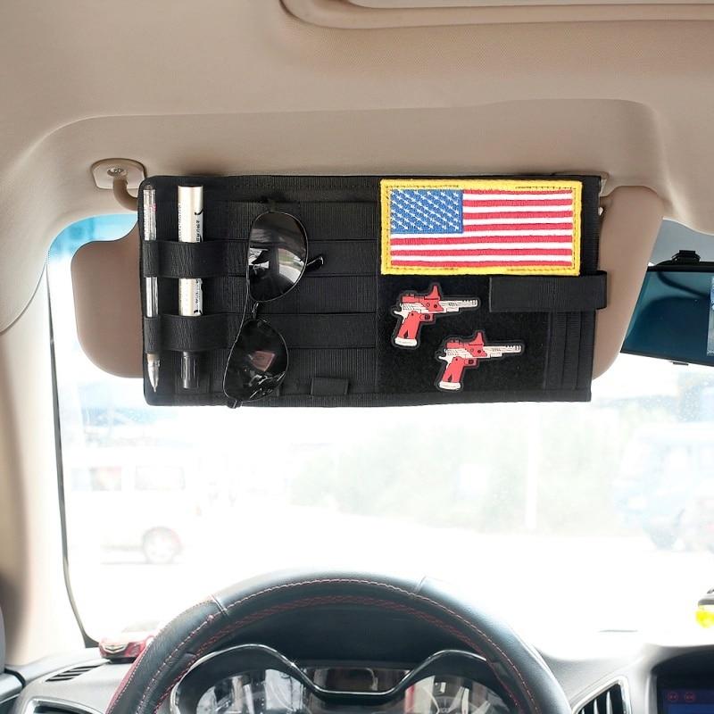 Tactical Molle Car Sun Visor Organizer Visor Panel CD Bag Auto Accessories