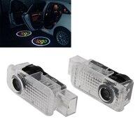 2 Adet Led Araba Kapı Projektör Işıklar Oto Nezaket Hoşgeldiniz logosu Gölge Lamba Lazer Projektör 3D Volksvagen için ışık Eski Passat
