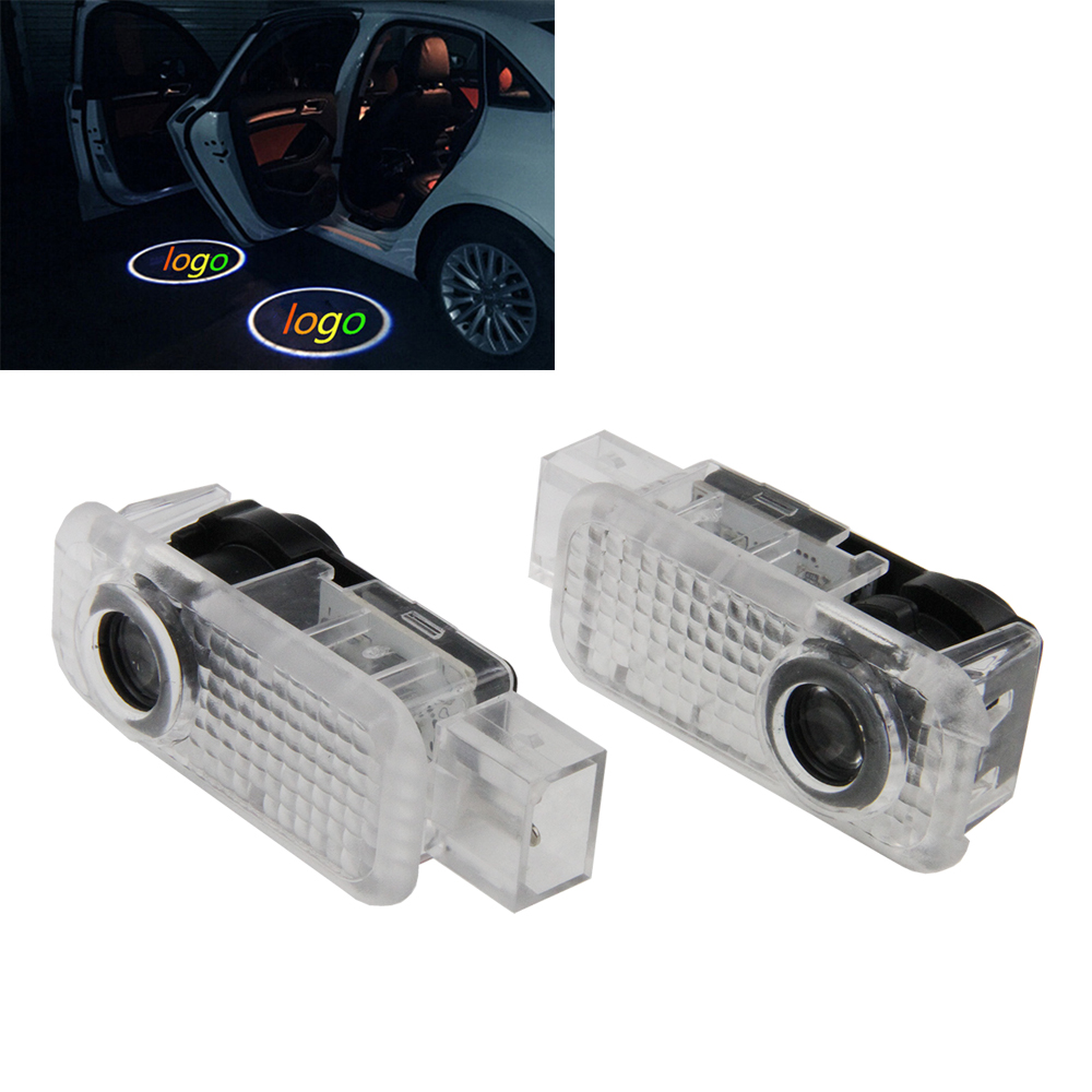 2 Pcs Led Car Door Projector Lights Auto Courtesy Welcome Logo Shadow Lamp Laser Projector 3D light for Volksvagen Old Passat