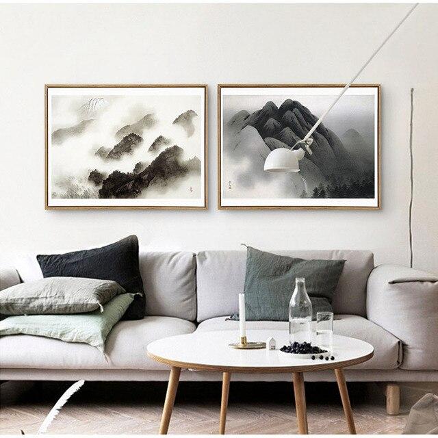HAOCHU abstract landschap decoratie schilderij nieuwe Chinese ...