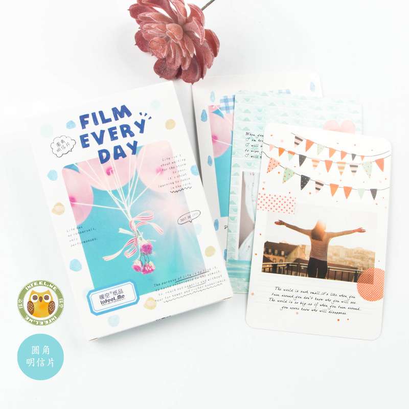 30 Pcs/lot  FILM EVERY DAY  Postcard Korean Cute Kawaii Stationery Gift Card Bookmarks Message Card