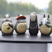 Kawaii Аниме Тоторо без лица человек автомобиль украшения Мой сосед Тоторо кукла автомобиль интерьерные украшения милый мультфильм Авто аксессуары Игрушка