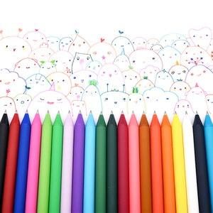 Image 1 - 20 개/몫 KACO 순수 시리즈 ABS 매트 젤 펜 패션 캔디 컬러 서명 젤 펜 학생 편지지 Office 학교 용품에 대 한