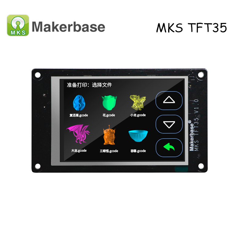 New Arrival 3D Printer Parts MKS TFT35 V1.0 Smart Controller 3.5 Touch Screen Support Smoothieware Upgraded TFT32 for MKS SBASE