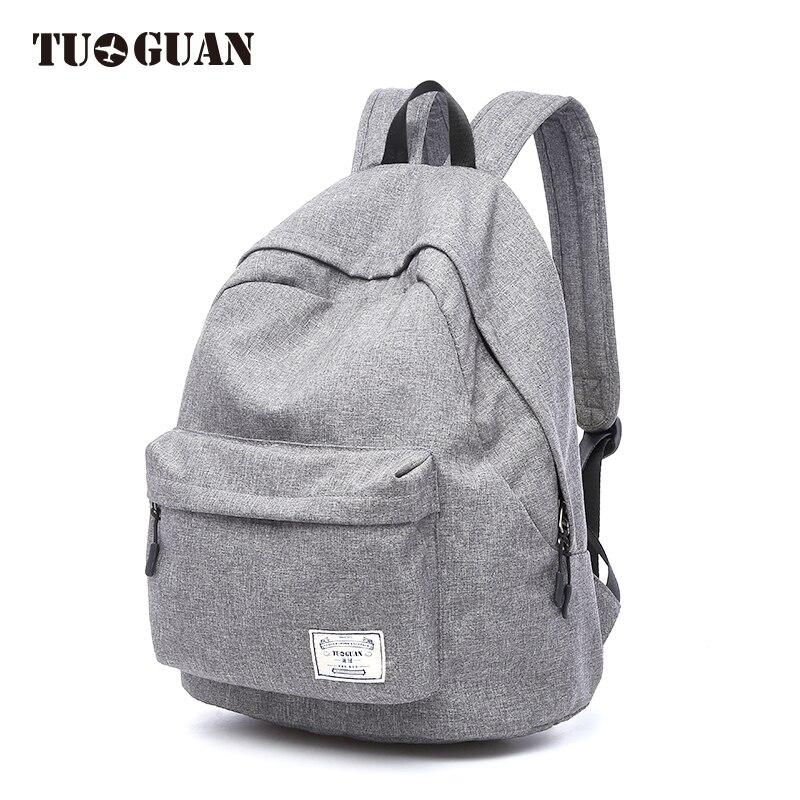 TUGUAN Fashion Canvas Backpack For Laptop Casual School Backpacks Travel Bag Large Capacity Rucksacks Unisex Men Women Backpack