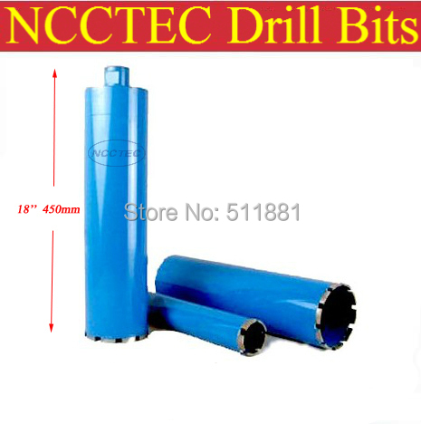 46mm*450mm NCCTEC crown diamond drilling bits | 1.84'' concrete wall wet core bits | Professional engineering core drill  108mm 450mm crown diamond drilling bits 4 32 concrete wall wet core bits professional engineering core drill