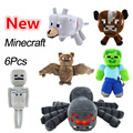 6Piece/lot,New Arrival Minecraft Plush Toy Doll 16-22cm,Kawwii Stuffed Minecaraft Plush Doll Toys For Cartoon Game,Free Shipping