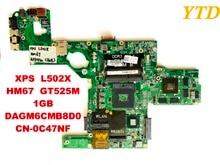 Оригинал для Dell XPS L502X ноутбук motherboar XPS L502X HM67 GT525M 1 ГБ DAGM6CMB8D0 CN-0C47NF испытанное хорошее Бесплатная доставка