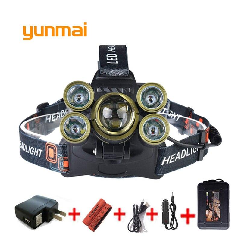 USB 20000 Lumen 7 Led Headlamp 3*Cree XML T6+4Q5 Head Lamp Powerful Led Headlight Zoom Head Torch 18650 Battery Fishing Hunting sitemap 30 xml page 7
