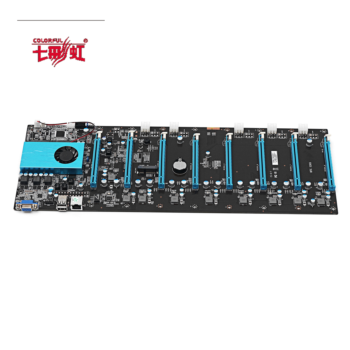 Colorful BTC IC6S Mining Motherboard Main Board for Computer CPU Intel With 8 PCI-E Slots l32e77 motherboard computer board as88 movement 40 37 k73a usa2xg xia pubing screen