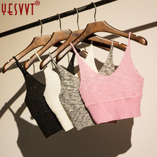 yesvvt 2017 Women Crochet Bralette Knit Lace Bra Boho Beach Bikini Halter Crop Top Cami Tank