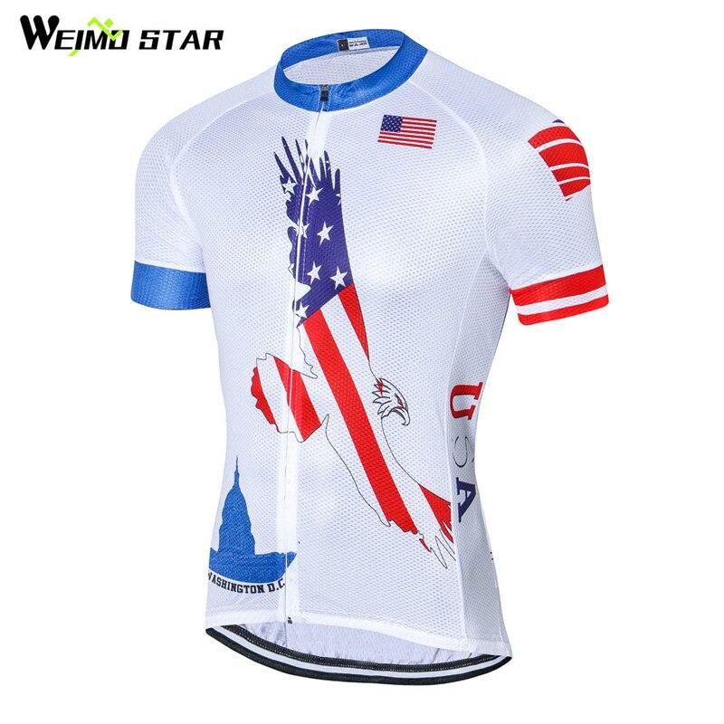 Weimostar 2018 USA Style Cycling Clothing Short Sleeve Pro Team Cycling  Jersey Racing Sport MTB Bike Jersey Road Bicycle Clothes-in Cycling Jerseys  from ... 5c6c1db10