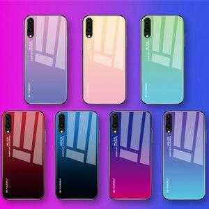 Чехол из закаленного стекла с градиентом для Huawei Honor 8X P30 P20 Lite Mate 20 10 Pro P Smart Plus 2019 Nova 3i 3 4