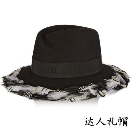 Europe and the United States of big shop sign M new feather hat ms wide-brim hats more fashionable western style
